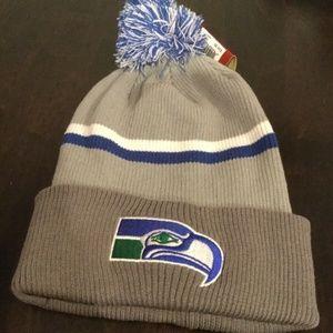 NWT Seattle Seahawks Mitchell & Ness Winter Hat